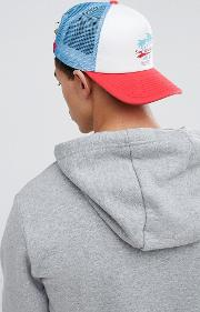 trucker cap with surf embroidery