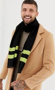 Scarf With Neon Stripe