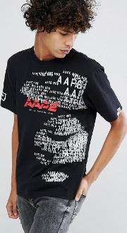 Aape By  Bathing   Shirt With Cyber Punk Print