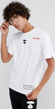 Aape By  Bathing   Shirt With Universe Panel Print