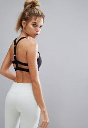 bralet with strap caging