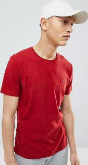 moose icon logo crew neck t shirt in red