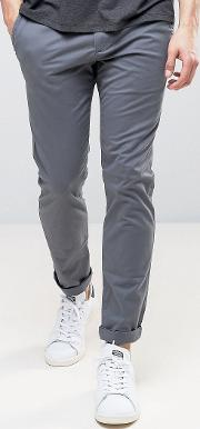 super skinny stretch chino  dark grey