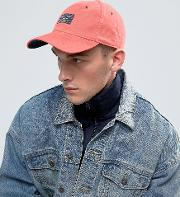 twill cap patch logo in pink