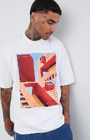 oversized t shirt with removeable print patch