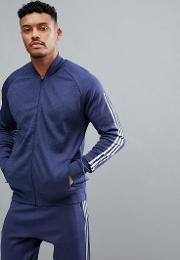 athletics knitted bomber in navy cw1405