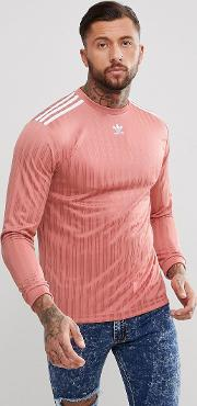 adicolor long sleeve football jersey in pink cw1226
