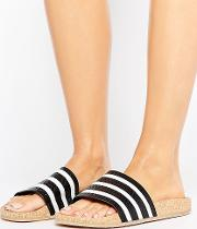 originals adilette slider sandals wth cork sole