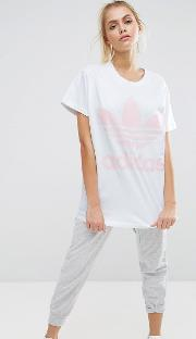 originals big trefoil tee  white and pink