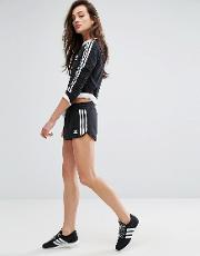 Originals Black Three Stripe Shorts