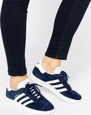 Originals Navy Suede Gazelle Trainers