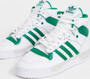 Rivalry Hi Top Trainers White And Green