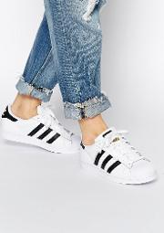 originals unisex superstar white & black trainers