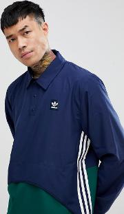 pullover jacket in navy ce1810