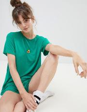 embroidered avocado t shirt and shorts pyjama set
