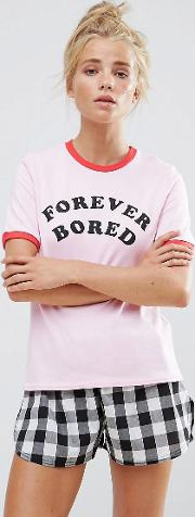 forever bored short pyjama set