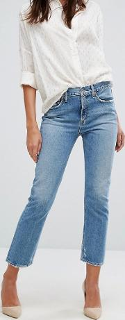 A Gold E Cigarette Low Waist Straight Leg Jean