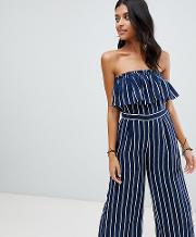 Exclusive Frill Beach Jumpsuit