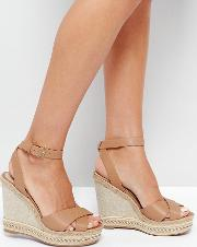 clodia tan espadrille wedge sandals