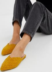 Eliliwia Suede Woven Mules