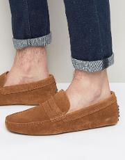 Feiria Suede Penny Loafer Drivers