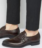 korelle monk shoes in brown leather