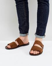 priour double strap suede sandals