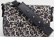 Real Leather Leopard Cross Body Bag