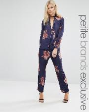 floral print pyjama trouser co ord