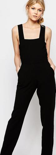 Pinafore Tailored Jumpsuit