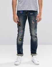 skinny jeans with badges