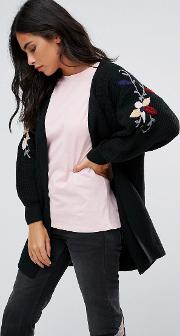Cardigan With Embellished Detail