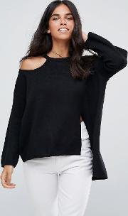 Jumper With Cut Out Detail