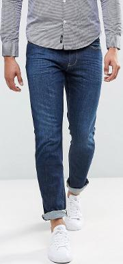 j06 slim fit stretch mid used wash jeans