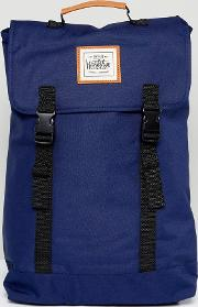 Double Clip Backpack In Navy