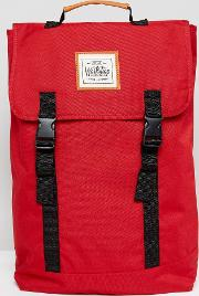 double clip backpack in red