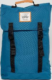 double clip backpack in teal