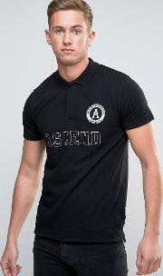 badge polo shirt