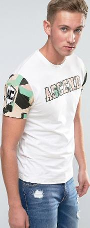 camo sleeve t shirt