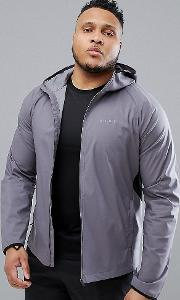 Plus Windbreaker With Breathable Mesh Panels