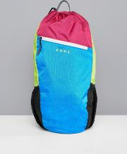 Running Backpack Neon Colour Block