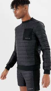 Sweatshirt With Quilted Insulation