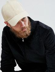 Baseball Cap In Stone Faux Suede With Youth Embroidery