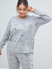 asos design curve lounge frenchie sweat