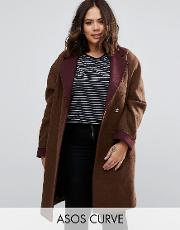 coat with contrast collar and cuff