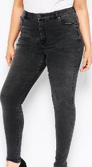 High Waisted Sculpt Me Skinny Jeans  Brooklyn Washed Black
