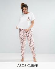 kiss me tee & legging pyjama set