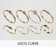 Pack Of 8 Simple Fine Stone Rings