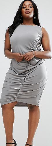 Ruched Dress With Channel Detail