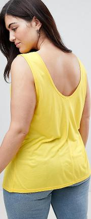 sleeveless top with scoop back